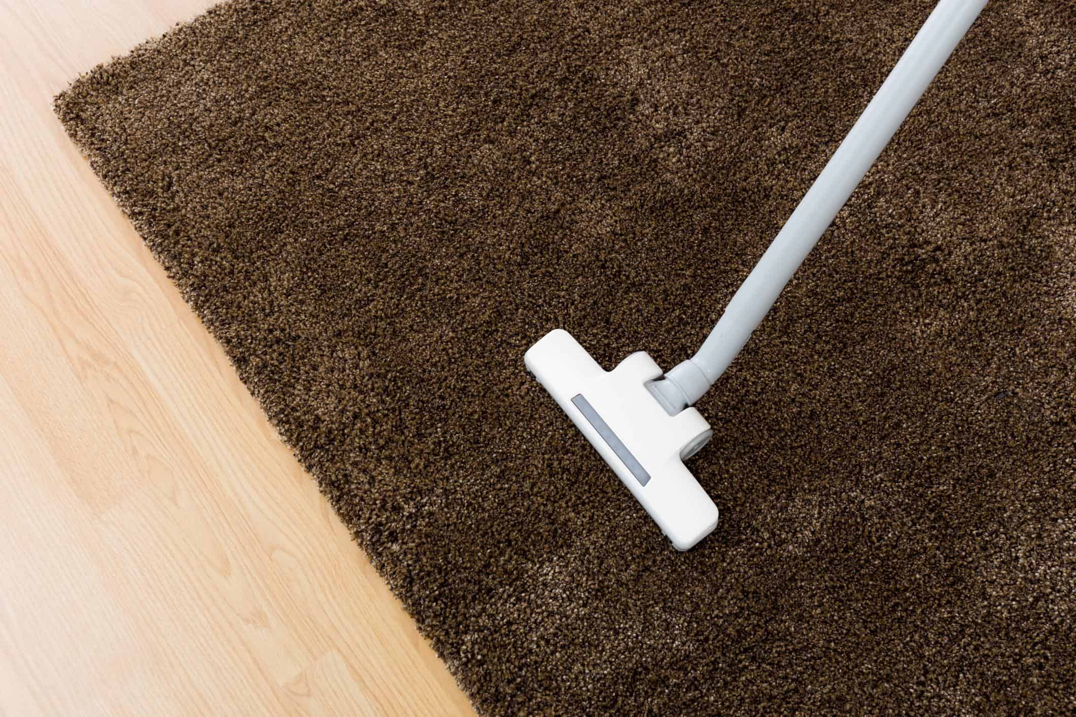This is a picture of an area rug cleaning.