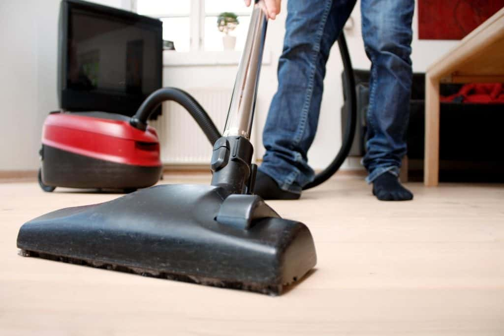 This is a picture of a comercial carpet cleaning service.