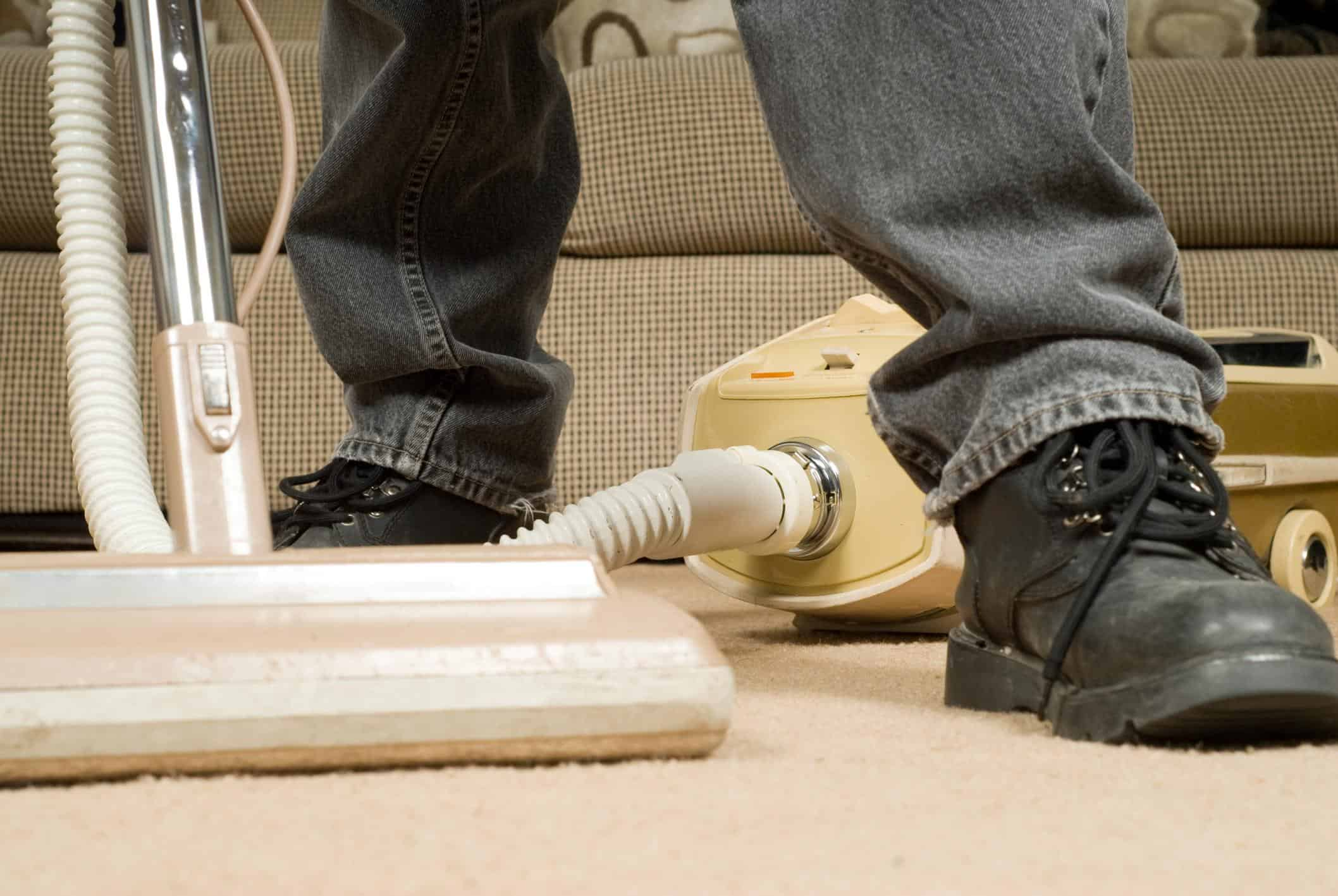This is a picture of a residential carpet cleaning.